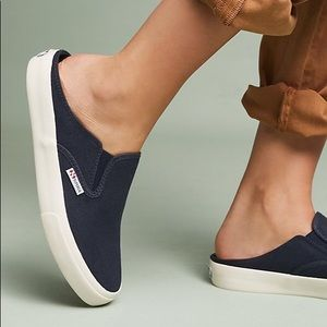 Superga for Anthropologie Black Slip On Sneakers